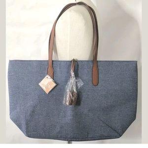 ULTA Bag Denim Tote Shoulder Bag Chambray Blue NEW